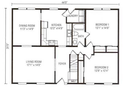 750 square foot house home mansion for Floor plans 750 square feet
