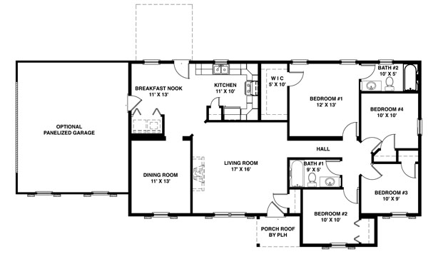 Shore modular for Ranch house plans with bedrooms together