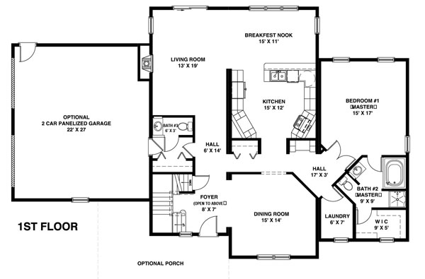 The Kitchen, Convenient First Floor Laundry And Lots Of Closet Space  Complete The First Floor Design. Two Additional Bedrooms, A Full Bath And  An Unfinished ...