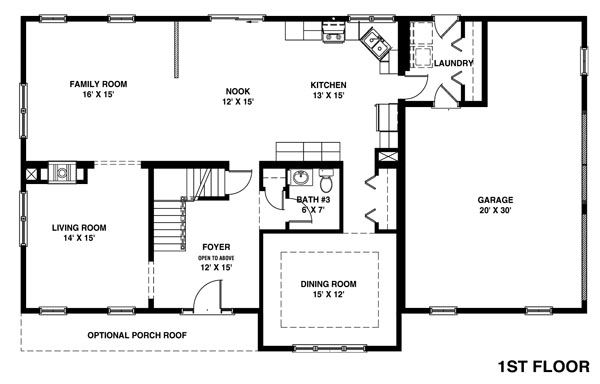 Shore modular for 2 story floor plans with master on main floor