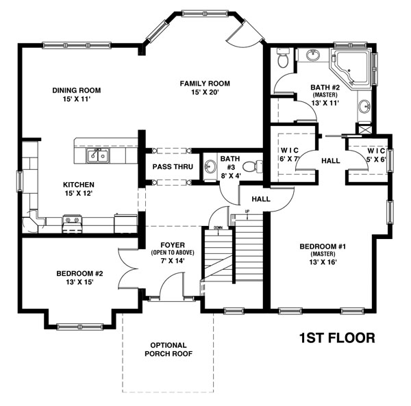 House plans with 2 master suites on first floor gurus floor for Modular home floor plans with two master suites